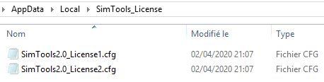 2 fichiers SimTools_License.jpg