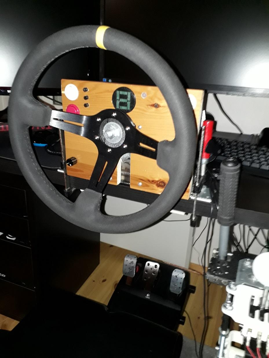 Showroom - Another DIY FFB-Wheel + gear-indicator + shift-light