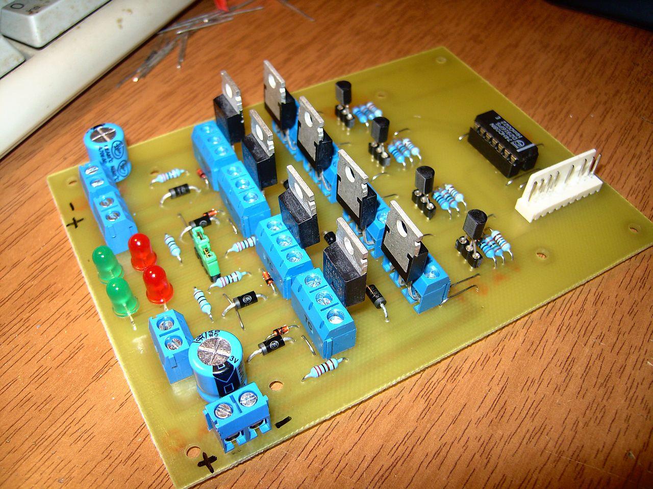 Dual Hbridge Stripboard Circuit