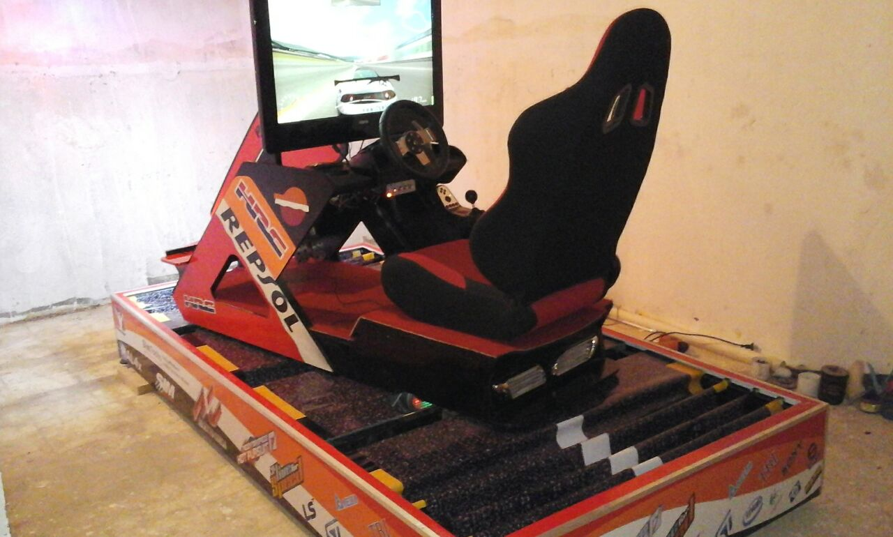 for sale) 3-DOF Racing Simulator     The biggest motion