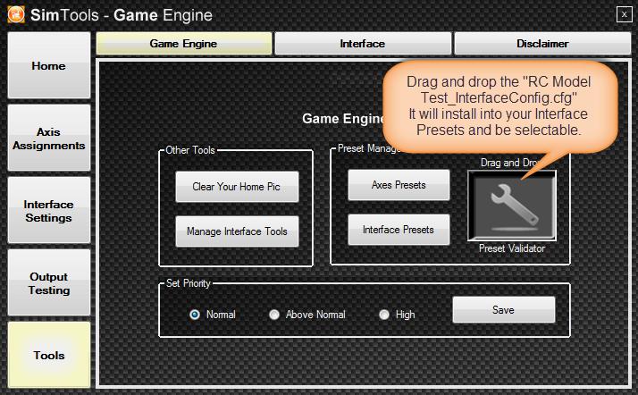 RC Model SimTools Interface Preset Install.png