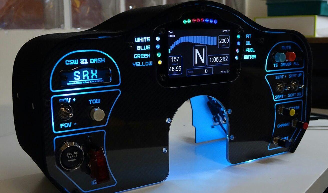 SCR SRX SIM Racing GT Dashboard ACCUFORCE Direct Drive Wheel