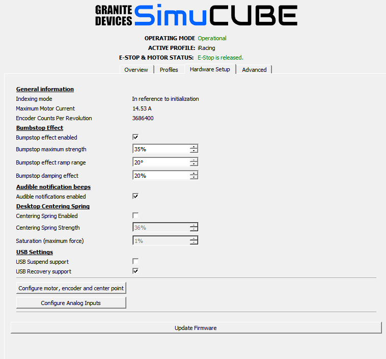 iRacing SimuCube Settings and latest in game settings