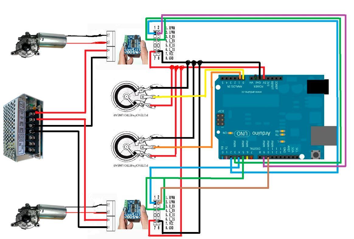 Question - 6 DOF 350W motors with IBT-2 43A H-bridge