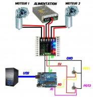 Arduino code 2DOF for Sabertooth (WIP)