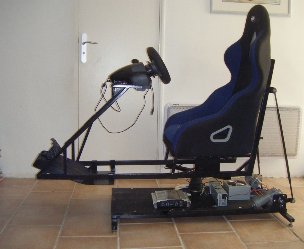 2DOF Motion Simulator with truck wiper motor playseat