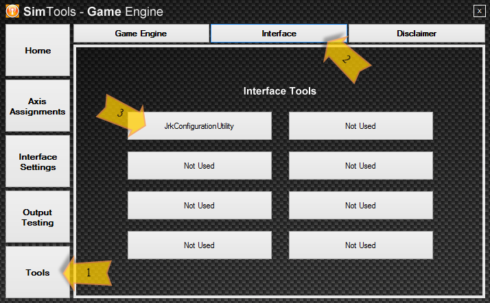 Accessing our interface tools