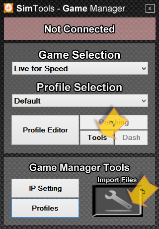 Importing a saved game manager profile