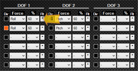 Selecting a Filter for DOF